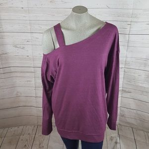 Free People Tops - Free People Saratoga One Shoulder Top Mulberry